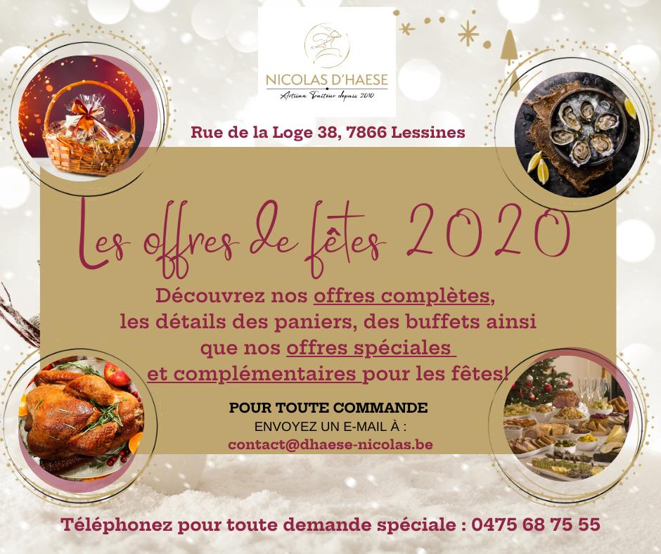 NDH Traiteur - Les offres de fêtes 2020 complètes
